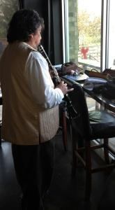 Daniel practicing clarinet
