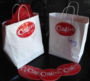 2 Cindies gift bags
