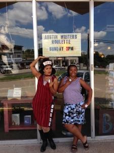 1 Stephanie & me w sign