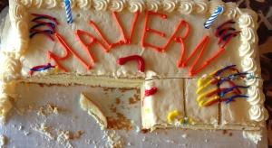 3 2nd anniversary cake